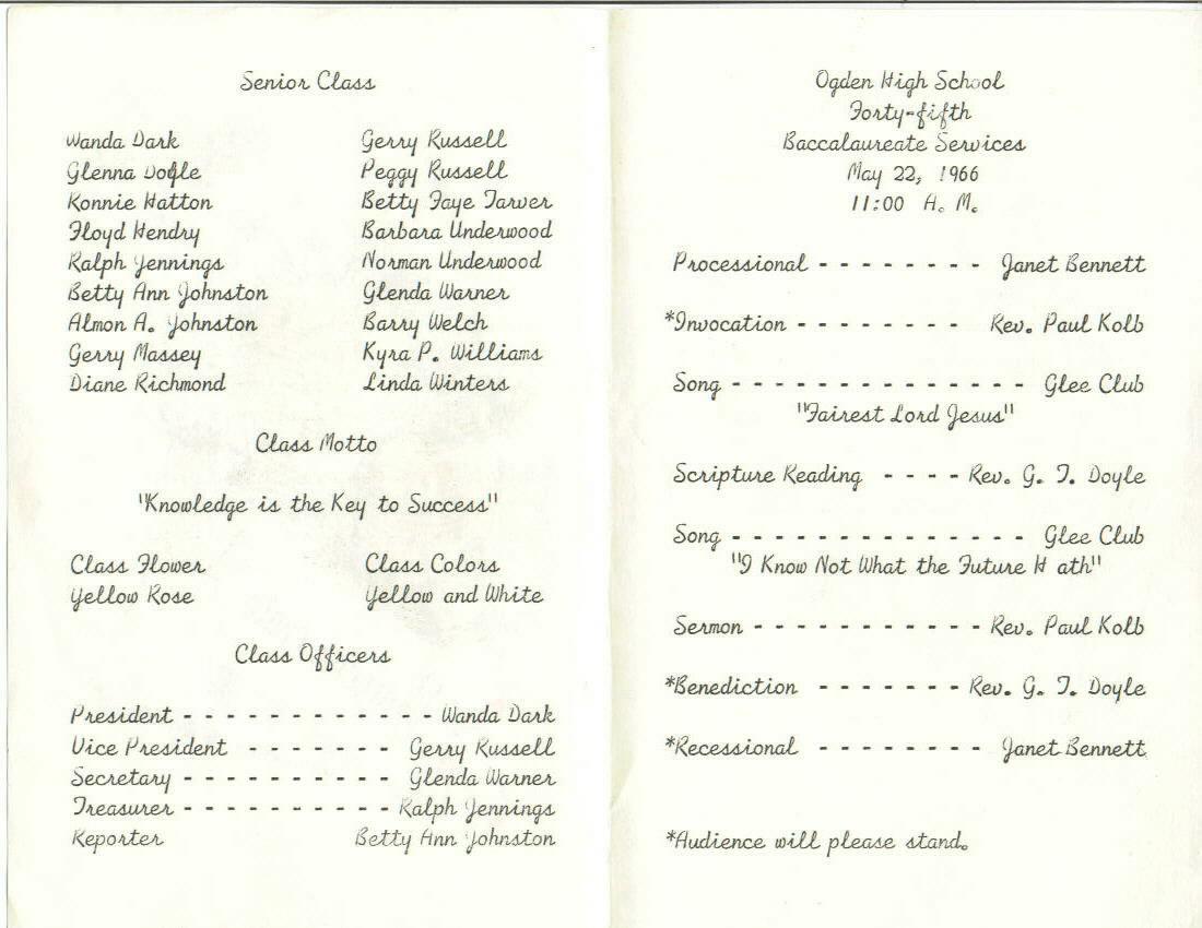 graduation program template